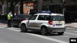 Илустрација - Полициска контрола во Скопје