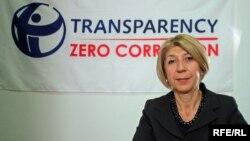 Претседателката на Транспарентност нулта корупција, Слаѓана Тасева.