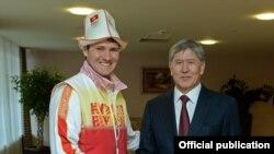 Президент Кыргызской Республики Алмазбек Атамбаев встретился с Дмитрием Трелевским, представляющим Кыргызстан на XXII Олимпийских зимних играх в Сочи.