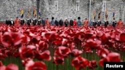 Pamje nga ceremonia e djeshme e shënimit të përvjetorit të përfundimit të Luftës së Parë Botërore në Londër