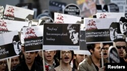 Բողոքի ակցիա Թուրքիայում Հրանտ Դինքի սպանության յոթերորդ տարելիցի օրը, 19-ը հունվարի, 2014
