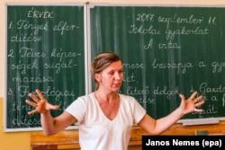 Урок венгерского языка в школе в Ужгороде.