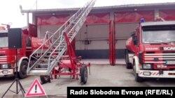Противпожарно возило во Тетово.