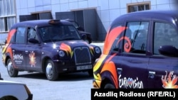 Azerbaijan -- London taxi in Baku - 02May2012