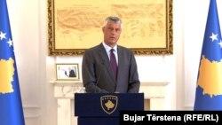 Predsednik Kosova Hašim Tači tokom konferencije za novinare u Prištini, 18. septembar 2018.