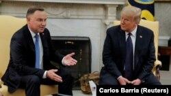 Дональд Трамп и Анджей Дуда на переговорах в Белом доме, 24 июня