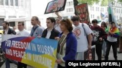 Нью-йоркская акция протеста против выступления Владимира Путина в ООН