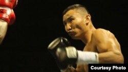 Боксер Канат Ислам на ринге. Колумбия, 7 августа 2014 года.