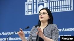 Пресс-секретарь МИД Армении Анна Нагдалян