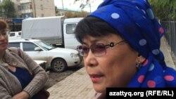 Нуржамал Ажигалиева, адвокат Ойландыка Жарменова, раненного при атаке на магазин «Паллада». Актобе, 15 сентября 2016 года.