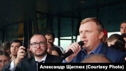 Андрей Ищенко на митинге во Владивостоке 17 сентября