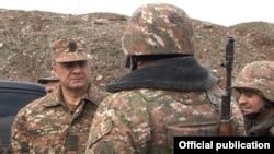 Ermenistanyň goranmak ministri Seýran Ohanian Dagly-Garabaga sapar edýär. 11-nji fewral, 2016.