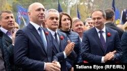 Liderii democrați la un miting organizat la Chișinău. 21 octombrie 2018