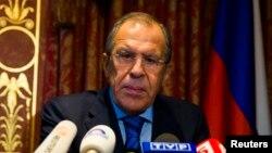 Сергей Лавров после переговоров на пресс-конференции в Берлине