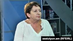 Жанна Алексанян в студии «Азатутюн ТВ», Ереван 21 августа 2017 г.