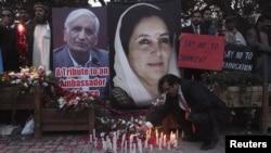 На жалобних заходах до річниці вбивства Беназір Бхутто, фото архівне