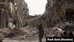 Prizor iz Rake, Sirija, septembar 2017.