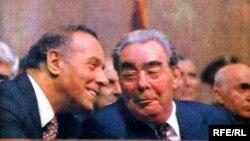 Heydər Əliyev və Leonid Brezhnev - 1982