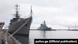 Натовские военные корабли в потийском порту, май 2018 г.