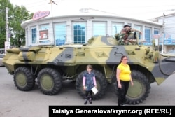 Ukraine, Crimea -- armored troop-carrier in the Center of Simferopol - Simferopol - 15May2014