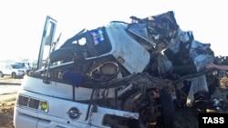 Ресейде апатқа ұшыраған автобус (Көрнекі сурет).