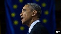 Президент США Барак Обама. Ганновер, 25 апреля 2016 года.