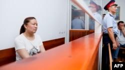 Обвиняемая в незаконном пересечении казахстанской границы гражданка Китая и этническая казашка из Синьцзяна Сайрагуль Сауытбай на суде по ее делу. Жаркент, 13 июля 2018 года.