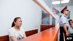 Sairagul Sauytbay in an Almaty courtroom in July 2018