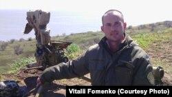 Віталій Фоменко на позіції під Маріуполем, початок 2016 року