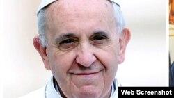 На снимке: папа римский Франциск