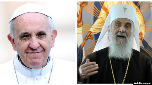 Papa Franja i patrijarh Irinej