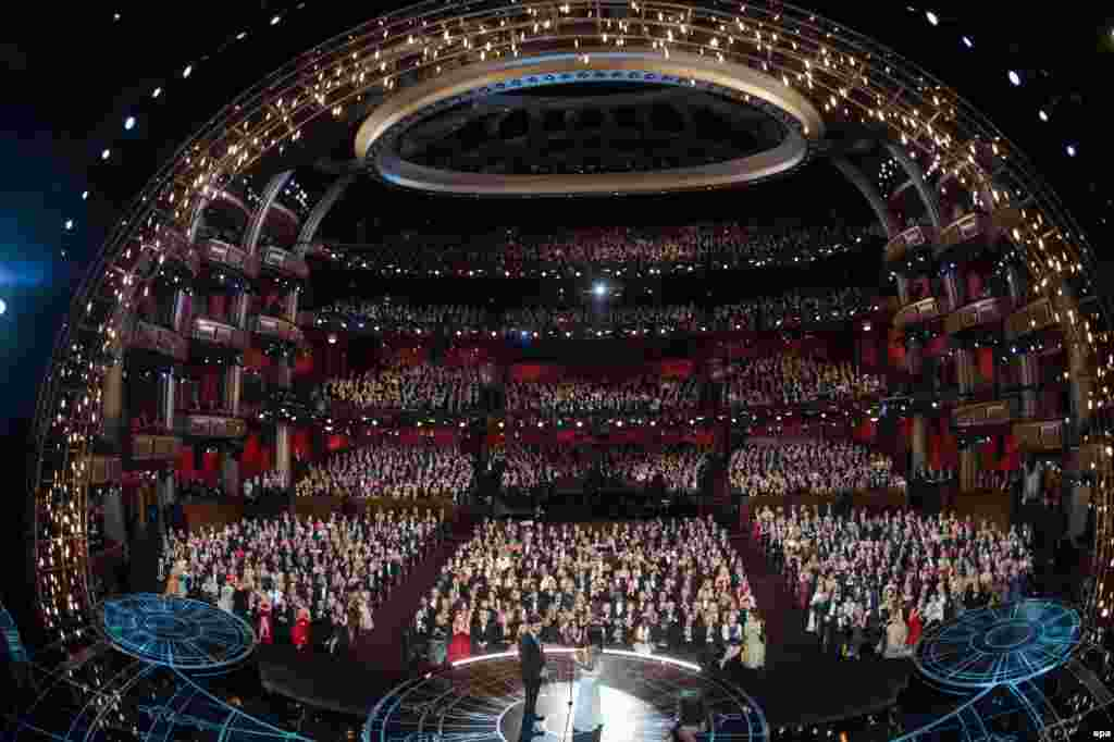 The awards were presented with the usual Hollywood glitz at the 3,300-seat Dolby Theatre.