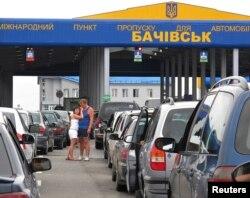 Очередь на российско-украинской границе