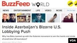 BuzzFeed saytının Azərbaycana dair məqaləsindən görüntü.