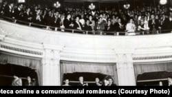 Bucureşti, iunie 1964. Adunarea solemnă pentru comemorarea a 75 de ani de la moartea lui Mihai Eminescu. Fototeca online a comunismului românesc; cota:4/1964
