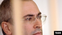 Mikhail Khodorkovsky at a 2008 parole hearing in Chita