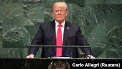 Prezident Donald Trump BMT Baş Assambleyasında, 25 sentyabr 2018
