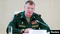 Официальный представитель министерства обороны России генерал-майор Игорь Конашенков.