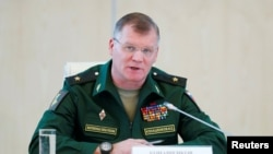 Russian Defense Ministry spokesman Major General Igor Konashenkov (file photo)