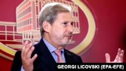 European Commissioner for Enlargement Negotiations Johannes Hahn