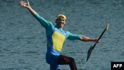 Юрій Чебан святкує золоту перемогу, 11 серпня 2012 року