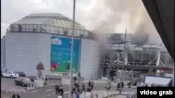 Кадр взрыва в аэропорту Брюсселя. Иллюстративное фото.
