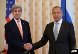 Держсекретар США Джон Керрі під час зустрічі із міністром закордонних справ Росії Сергієм Лавровим у Москві. 15 липня 2016 року