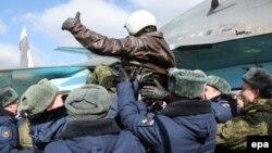 Ռուսական օդուժը Սիրիայից վերադառնում է Ռուսաստան, 15-ը մարտի, 2016թ