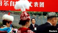 Партийный руководитель СУАР Чэнь Цюаньго. 19 октября 2017 года.