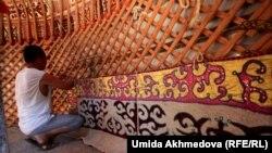 Казахские юрты в Зарафшане