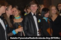 Учасники спільного молодіжного симфонічного оркестру юних музикантів України та Німеччини