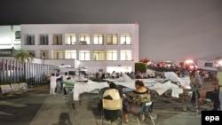 Bolnica Viljahermosa zbog zemljotresa pod otvorenim nebom