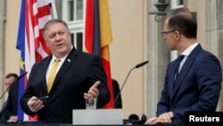 U.S. Secretary of State Mike Pompeo with German Foreign Minister Heiko Maas (file photo)