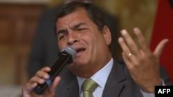 Presidenti i rizgjedhur i Ekuadorit, Rafael Correa